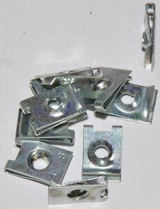 10x Blechmuttern aus Stahl (für Schrauben 4,8 mm) Bef.-Dicke 0,5-1,75mm verzinkt