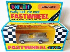 1970's PLAYART FASTWHEELS Diecast BATMOBILE Model in Repro Batman Window Box [b]