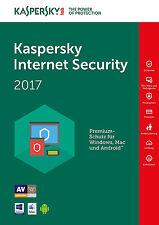 Kaspersky Internet Security 2017 1 Gerät / PC 1 Jahr Vollversion Lizenz Key ESD