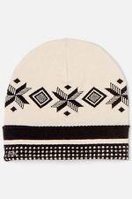 Lacoste Women's Metal Croc Patterned Knit Hat in Sisal RB6373 $60 BNWT Authentic