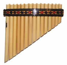 South American Style 15 Pipes Pan Flute - G major