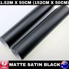 1.52M X 50CM MATTE MATT SATIN BLACK QUALITY CAR VINYL WRAP FILM AIR BUBBLE FREE
