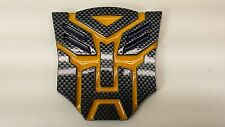 Carbon look 3D Autobot 4 Inch Transformers Emblem Badge Decal Car Stickers Truck