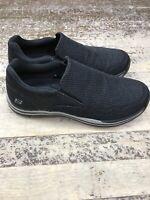 Skechers Men's Relaxed Fit Expected-Gomel Memory Foam Slip-On Shoes Black