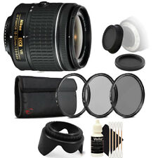 Nikon AF-P DX NIKKOR 18-55mm Lens for Nikon DSLR Cameras w/ Accessories