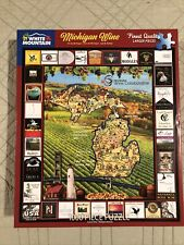 white mountain puzzles 1000 pieces. Michigan Wine. Used