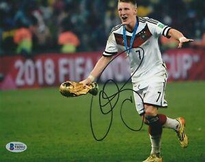 BASTIAN SCHWEINSTEIGER Signed GERMANY NATIONAL 8x10 PHOTO w/ Beckett COA
