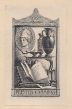Ex Libris Bookplate for Prentiss Cummings by Sidney L. Smith 1900