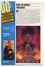 DC Direct Currents 85 1995 NM- Preacher 1 Promo TV Show Flash 100