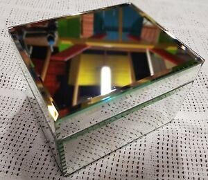 Glass/Mirror Jewellery Box - Good Condition