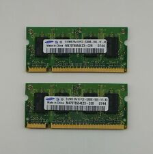 Lot of 2 Samsung 512MB DDR2-667 PC2-5300 200pin SODIMM Memory M470T6554EZ3-CE6