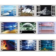 3D Removable Window Scenery Wall Sticker Waterproof Bedroom Decals Mural Decor
