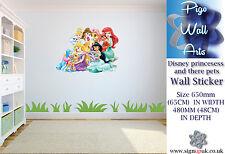 Principesse Disney per bambini Camera da Letto Adesivo Muro Camera Da Letto Adesivo di grandi dimensioni.