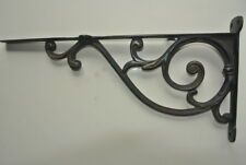 """large 14"""" Bracket solid solid brass antique look 36 cm heavy old style vintageB"""