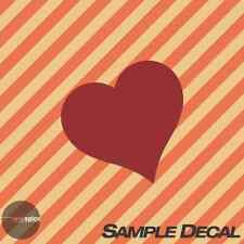 Sample Single Heart Vinyl Wall Decal Sticker - Try Before You Buy
