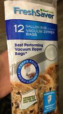 Foodsaver Freshsaver Gallon Size Vacuum Zipper Bags 12 Count New