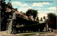Fort Tryon Washington Heights New York City Old Postcard Unused A14