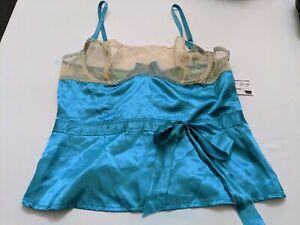 Fredrick's Of Hollywood Women's Size 34 Azure Blue Camisole BNWT