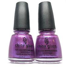 China Glaze Nail Polish ANKLETS OF AMETHYSTS 591 Pinkish Purple Shimmer Lacquer