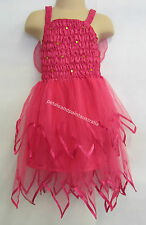 Fairy Dress With Wings Ballet Tutu Dance Costume Hot Pink 2-4 Years Polyester