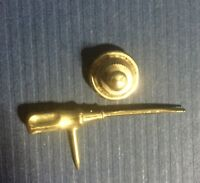 """Vintage SCREWDRIVER TIE TACK PINBACK - Unbranded 1 1/4""""L Tool Collectible Pin"""
