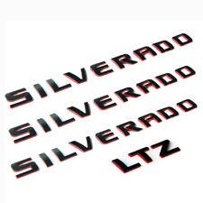 3x GENUINE SILVERADO+1 LTZ Nameplate Emblem Badge 3D 1500 2500HD OEM Red Line F