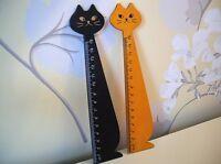 Cute Cat Kitten Wooden Ruler school Kids stationary  Loot Party bag Filler