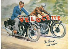 1930's Velocette motorcycles poster
