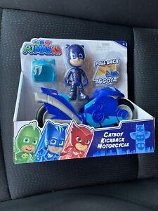 NEW PJ Masks Catboy Kickback Motorcycle Blue Toy Bike