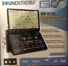"Soundstream VRN-DD7HB 2-DIN In Dash Navigation DVD Dual 7"" Touch Screens Android"