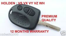 Holden Commodore 3 Button Car Remote - Case/Shell & Uncut Key VS VX VY VZ WH NEW