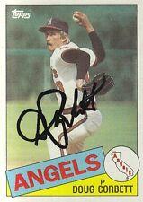 California Angels Doug Corbett Signed Autograph 1985 Topps Card #682  Pitcher
