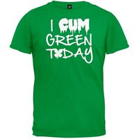 St. Patrick's Day - I Cum Green Today Adult Mens T-Shirt