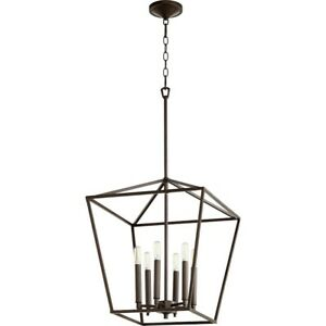 Quorum Gabriel 6 Light Entry, Oiled Bronze - 604-6-86