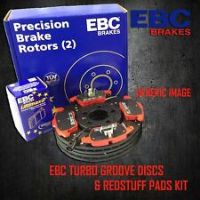 EBC 315mm REAR TURBO GROOVE GD DISCS + REDSTUFF PADS KIT SET PD12KR206