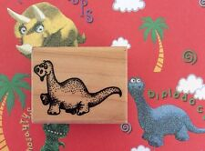 Dinosaur Bronty Brontosaurus Wood Mount Rubber Stamp Cartoon Animals Stampendous