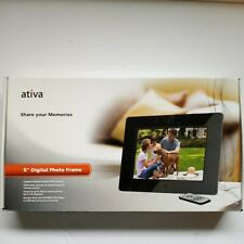 ATIVA 8 inch Digital Photo Frame USB Flash Card And Slide Show Able  (Open Box)