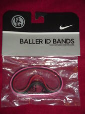 Nike Baller id Bands Wristbands Bracelets PINK Swirl Black Red 3 Pack New