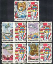 Czechoslovakia 1984 Space/Rockets/Intercosmos/Soyuz/Salyut 5v set + lbls n37778