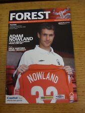 10/11/2004 NOTTINGHAM FOREST V Fulham FOOTBALL LEAGUE CUP []. questo oggetto è stato