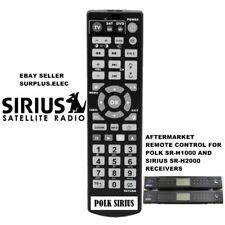 Sirius Remote Control for Satellite Model Polk SR-H1000 & Sirius SR-H2000