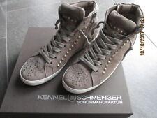 Kennel & Schmenger High Top Sneaker Queens Swarovski Nieten Taupe Gr 6,5 40 TOP