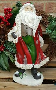 34cm Traditional Father Christmas Figure Vintage Style Santa Christmas Ornament