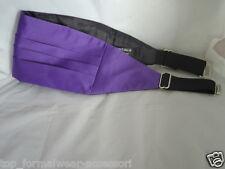<WEDDING> Quality Mens Purple Polyester Cummerbund>Cumberband<>P&P 2UK>1st Class