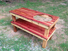 Big Green Egg Cedar Table