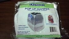 Laundry Essentials POP UP HAMPER bag  clothes Holds 2 Loads of Laundry