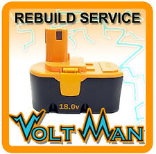 WE REBUILD YOUR 18 VOLT RYOBI HOMELITE BATTERY 1400672 W/ 2.2AH NICD CELLS