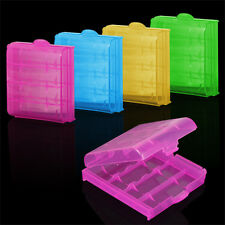 5 x AA AAA Battery Cases Storage Holder Rechargeable Batteries Hard Case Safe