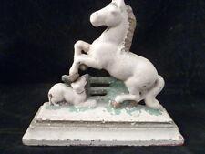Horse on BASE  Equestrian Cast Iron Door Stop!  Beautiful!!