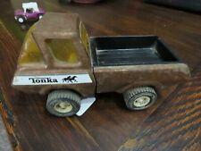 Vintage Tonka Pickup Truck Bronze Flake Running horses on door 1970's